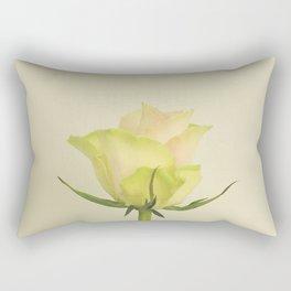 A single pink rose bud Rectangular Pillow