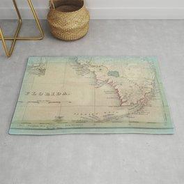 Antique Florida Keys Map Rug