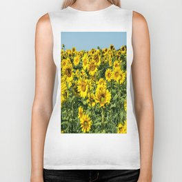 Field of Sunflowers-2 Biker Tank