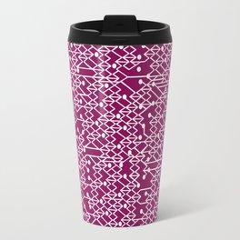 Microchip Pattern (Purple) Travel Mug