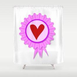 Love Heart Rosette Shower Curtain