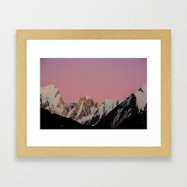 Sunset Peak Framed Art Print