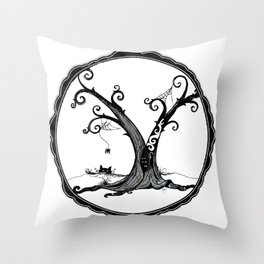 """""""Familiar and Friend"""" Throw Pillow"""