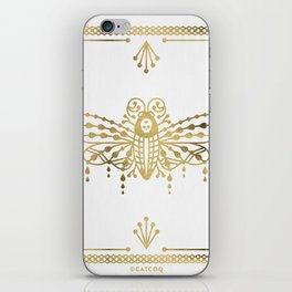 Death's Head Hawkmoth – Gold Palette iPhone Skin