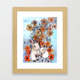 Easter Bunnies Framed Art Print