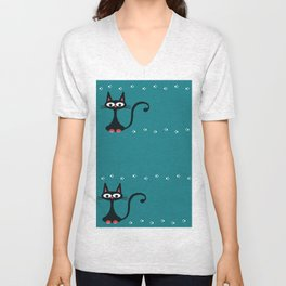 cats and paws Unisex V-Neck
