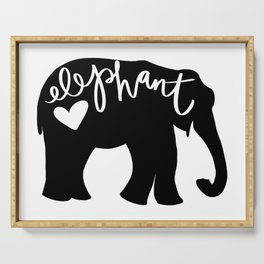 Elephant Love - Silhouette Serving Tray