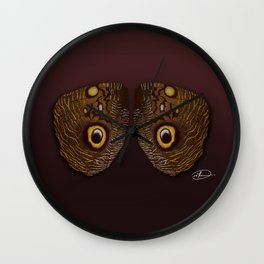 Wings of Eyes Wall Clock