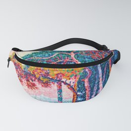 Paul Signac - Antibes - The Pinewood - Colorful Vintage Fine Art Fanny Pack