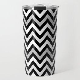 Chevron (Black and White) Travel Mug