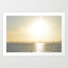 Let's Sail From this City Art Print