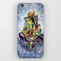 ganesha iPhone & iPod Skins featuring Ganesha by Harsh Malik