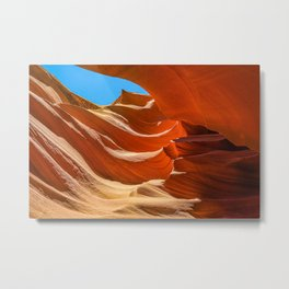 Antelope Canyon Red Rock Slot Canyon Metal Print