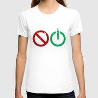 ohm T-shirts featuring Vape start ohm liquid by nicksoulart