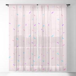 Pink Sprinkles Sheer Curtain
