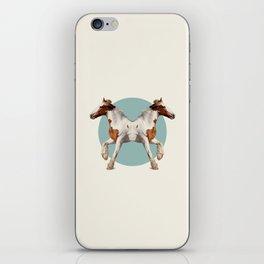 Double Animals: Horses iPhone Skin