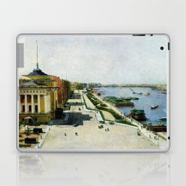 Saint Petersburg Russia Neva river and Admiralty Laptop & iPad Skin
