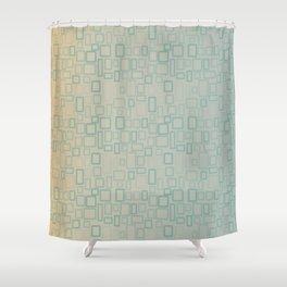 Retro Aqua pattern Shower Curtain