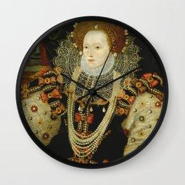 Portrait of Elizabeth I Wall Clock