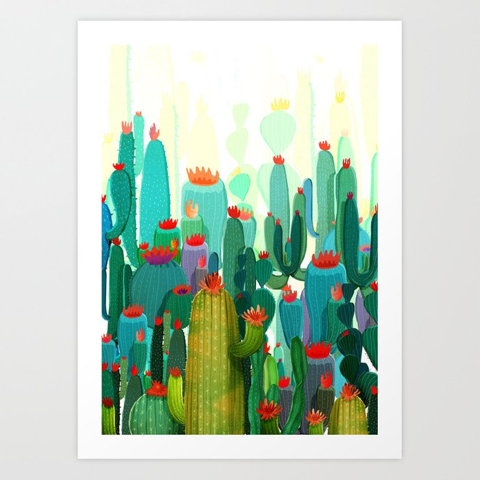 Cactus garden Kunstdrucke