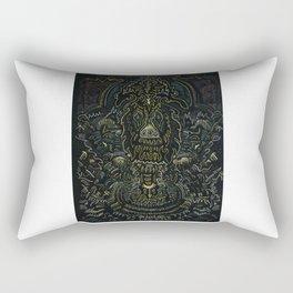 Metallic Drawing by Brian Benson Rectangular Pillow