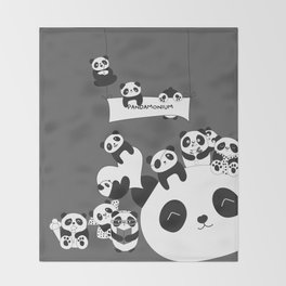 Panda party Throw Blanket
