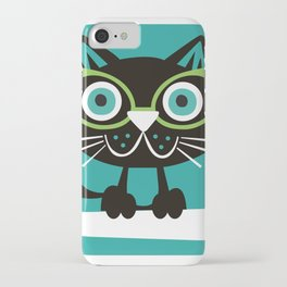 1950s Swank Mid Century Modern Martini Cocktail Kitty Cat iPhone Case