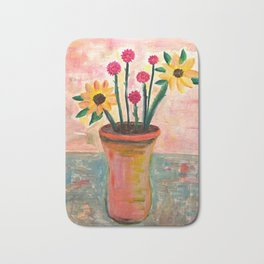Fan's Daily life series-Happiness flowers in Palo Alto Bath Mat