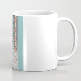 Tribal #4 (Coral/Aqua) Coffee Mug