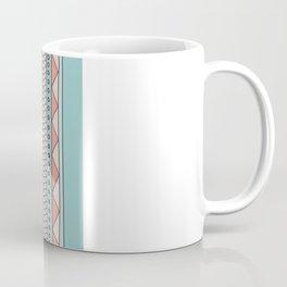 Tribal #4 (Coral/Aqua) Coffee Mug