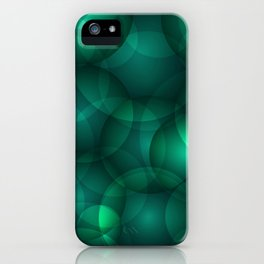 Luminous lead soap circles and volumetric cobalt bubbles of air and water. iPhone Case