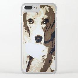 Beagle Love Clear iPhone Case