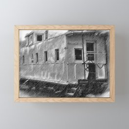 The Caboose Framed Mini Art Print