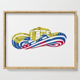Colombian Sombrero Vueltiao in Colombian Flag Colors Serving Tray