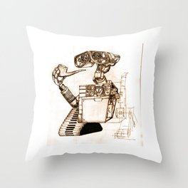 WALL-ace Throw Pillow