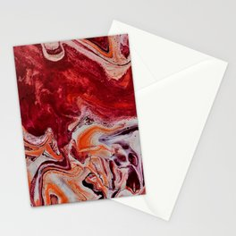 Fluid Red Stationery Cards