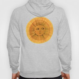 Sun Drawing - Gold and Blue Hoody