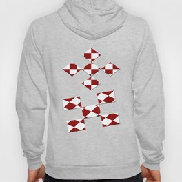 Red White Checker Hoody