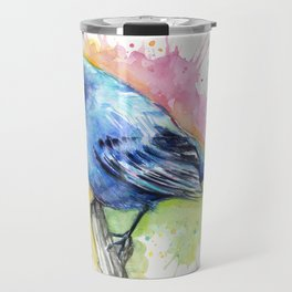 Blue Bird Indigo Bunting Colorful Animals Travel Mug