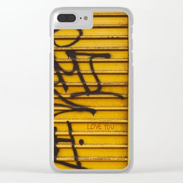 East Village Love Clear iPhone Case
