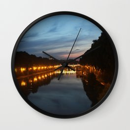 Rome evening Wall Clock