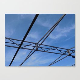 Metal Wired Sky Canvas Print