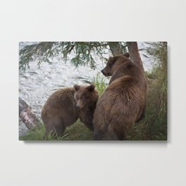 Mama and Cub Metal Print