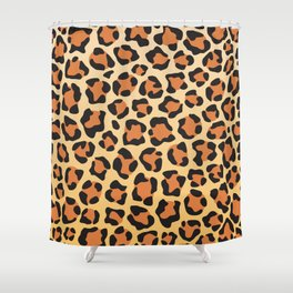 leopard skin background Shower Curtain