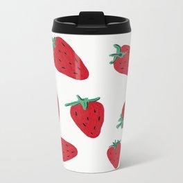 Strawberries Metal Travel Mug
