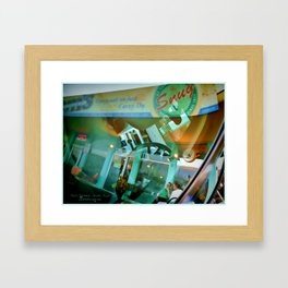 Windshield Reflection  Framed Art Print