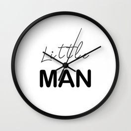Little Man - White Wall Clock