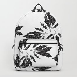 Black Leaves Pattern Backpack
