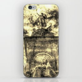 Queen Victoria memorial London Vintage iPhone Skin