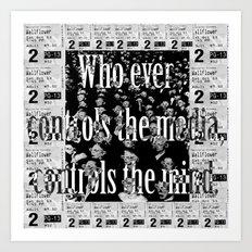Media controls mind Art Print